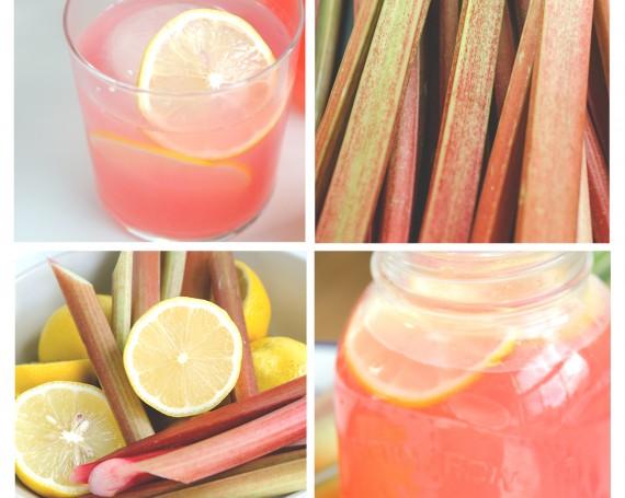 Limonade rose à la rhubarbe