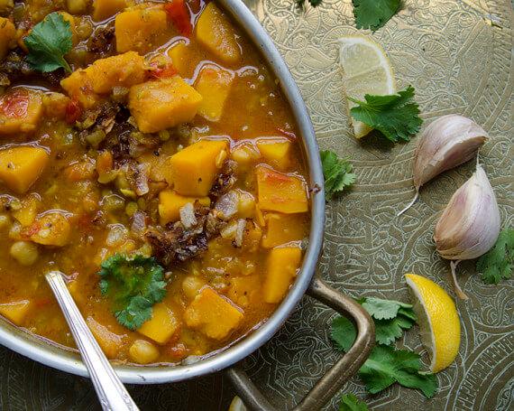 Curry indien à la courge