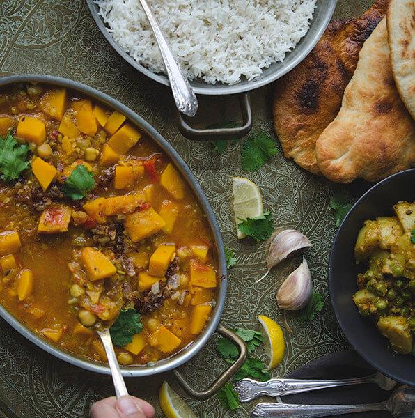 Festin indien végétarien