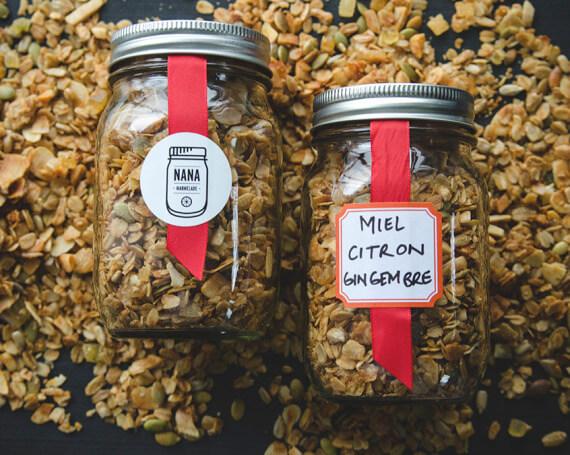 Granola maison au miel, citron & gingembre