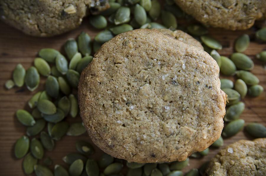 Biscuits au beurre de graines de citrouille plan